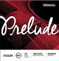 D'Addario ダダリオ バイオリン弦 Prelude セット J810 3/4M Medium Tension 【国内正規品】