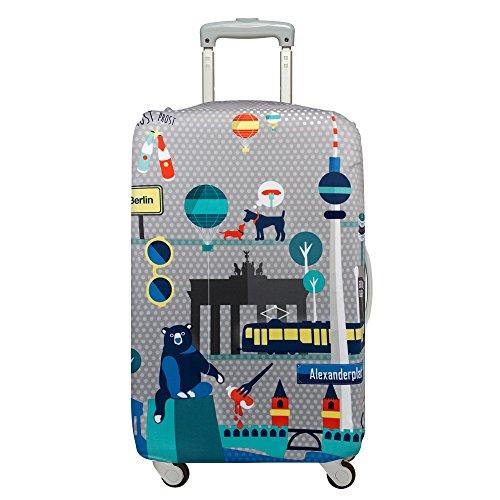 (ローキー) LOQI スーツケース キャリーバック カバー ラッゲージカバー 19.【URBAN】Berlin【Mサイズ】
