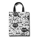 NIKO 猫のパターン おしゃれ トートバッグ 買い物バッグ エコバッグ レディース 小物入れ 手作り 遠足 旅行 かばん A4