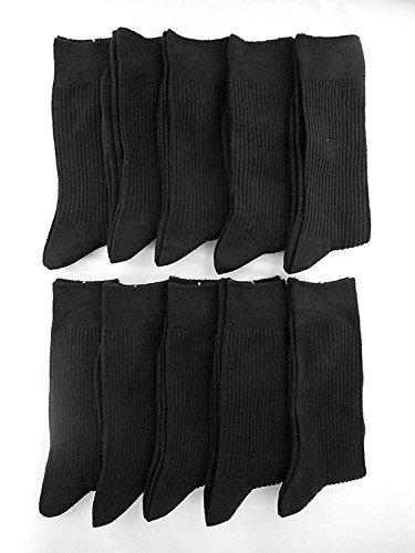 靴下専科 メンズ リブ ソックス 黒 10足セット ビジネス カジュアル (26~28cm)