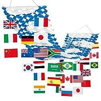 万国旗プリーツハンガー ビニール幕・紅白幕・旭光幕・万国旗ほか 万国旗 紙・PET H40×W45×L180cm