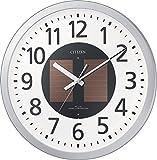 シチズン 電波 ソーラー 掛け時計 アナログ エコライフM815 エコマーク グリーン購入法 適合商品 オフィス 銀色 CITIZEN 4MY815-019