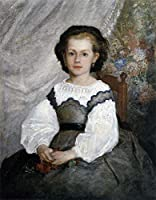 ¥5K-200k 手書き-キャンバスの油絵 - 美術大学の先生直筆 - 6 名画 - Romaine Lascaux Renoir ピエール=オーギュスト・ルノワール 児童 - 絵画 洋画 手描複製画 -05