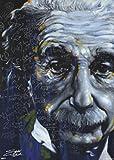 スティーヴン・フィッシュウィックによるアルバート・アインシュタイン アートポスター スクエアアートポスター 「Its All Relative by Stephen Fishwick」24x24インチ