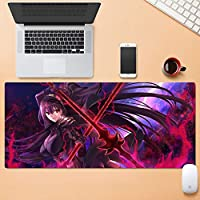 多機能オフィスコンピュータのキーボードマウスパッド家庭用大型ゲーミングマウスパッド洗える色褪せることのないステッチエッジデザイン80×30センチメートル HMMSP (Color : D, Size : 5mm)