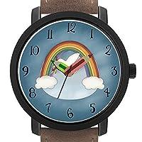 大人のためのギフト|写真大人のためのギフト 子供たち 誕生日 鉛筆形のポインター飾りギフト付きのスタイリッシュなかわいい腕時計 233. キッズレインボーと鳩の腕時計