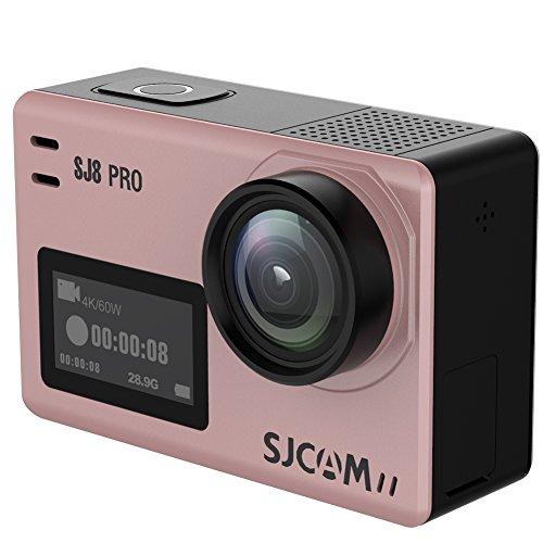 SJCAM 2018年新発表 SJ8 PRO アクションカム Ambarella H22チップ 4K 60fps Ultra/Full HD 日本語マニュアル同梱 170°超広角レンズ 720×480液晶解像度 タッチスクリーン Android iPhone APPコントロール スポーツカメラ「Small Box版」