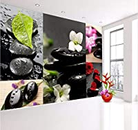 Wuyyii 3 Dの壁紙のための3Dリビングルーム壁紙ロールスロサロン玉石マッサージローズストーン店ロールスロイス-350X250Cm