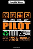Composition Notebook: Funny Caution Flying Pilot Gift For Aviation Lover  Journal/Notebook Blank Lined Ruled 6x9 100 Pages