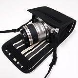 suono(スオーノ) Nikon1 J5ケース-ダブルズームレンズ用(ブラック・カーボンストライプ)--ハンドメイド