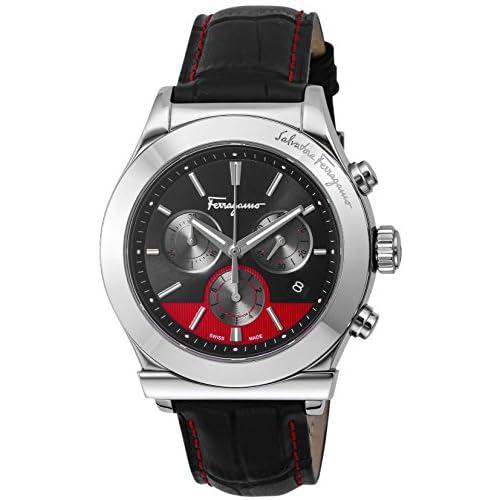 [サルヴァトーレ・フェラガモ]Salvatore Ferragamo 腕時計 フェラガモ1898 ブラック/レッド文字盤 FFM100016 メンズ 【並行輸入品】