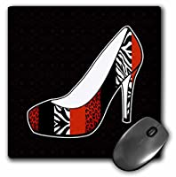 Janna Salak Designs Fashion - I Love Shoes - Animal Print High Heel Shoe - Red Cheetah and Zebra - Mouse Pads
