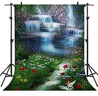 GooEoo 5×7FTマウンテンストリームシームレスなビニール写真の背景写真の背景スタジオプロップTP67