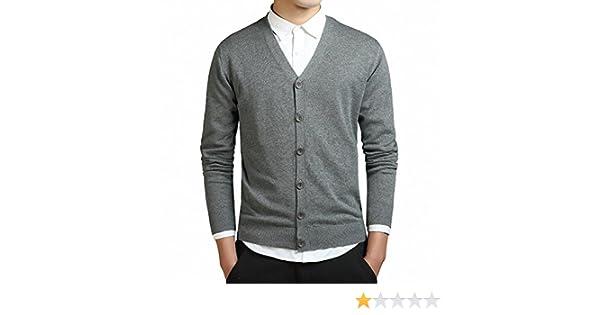 aca06e2cc885 Amazon.co.jp: LOYEE カーディガン メンズ Vネック セーター 綿 調ボタン 長袖 無地 ニットカーディガン 春 秋 スリム  ビジネス カジュアル M03 (L, #2): おもちゃ