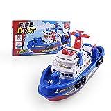 ACHICOO 電気消防船おもちゃ 消防船モデル ライト付き 音楽 噴水 戦闘船モデルとサウンドライトウ ォータースプレーボート キッズ おもちゃ クリスマスプレゼント 画像