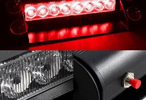 [해외]Ranzek 레드 경고 8 LED 비상 스트로브 라이트/Ranzek Red Warning 8 LED Emergency Strobe Light
