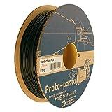 Proto-Pasta プロトパスタCDP11705導電性カーボンスプール、PLA複合1.75ミリメートル、500グラム、ブラック