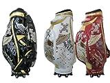 GOLF PREMIUM(ゴルフプレミアム) リスペクト ザ イーグル カート 9インチ キャディバッグ エナメル生地 豪華刺繍 CBEG-001 レッド