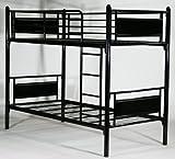 ◆◇パネル二段ベッド◇◆パイプ二段ベッド パイプ2段ベッド 二段ベッド 2段ベッド パイプベッド シングルベッド スチールベッド■052BK/BK
