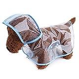 呉屋デパート 犬用レインコート ペット用品 小動物 猫 レインポンチョ 小型犬 中型犬 雨具 透明 雨の日のお散歩に カッパ 帽子付き 梅雨対策
