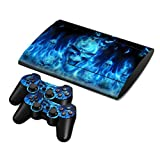 Zhhmeiruian 保護 フィルム ステッカー デコ Full Body Vinyl スキンシール Decal Sticker Cover for PS3 PlayStation Super Slim 4000 Console & Controllerx2