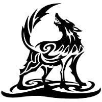 Sticker Shop Haru トライバル オオカミ ステッカー 黒