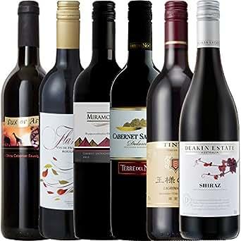 【Amazonワインエキスパート厳選】6か国周遊ワインの旅デイリーワイン赤セレクト飲み比べ750ml×6本セット