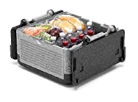 フリップボックス大型断熱ボックス - 45缶入り、折りたたみ可能、断熱、軽量、ポータブル、防水 - パーティー、ピクニック、キャンプ、ビーチ、共連れ、釣り、狩猟、船遊びなどに最適です。