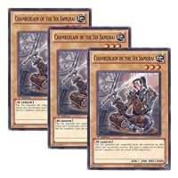 ★ 3枚セット ★遊戯王 英語版 LCGX-EN222 Chamberlain of the Six Samurai 六武衆の侍従 (ノーマル) 1st Edition