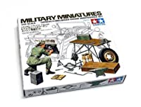 Tamiya Military Model 1/35 German Engine Maintenance Scale Hobby 35220 with RCECHO Full Version Apps Edition by Tamiya [並行輸入品]