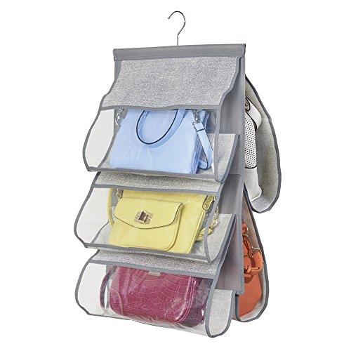 InterDesign クローゼット 小物 収納ポケット 布製 Aldo ポケット5個 グレー 04333EJ