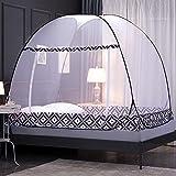 贅沢なポップアップネッティングテント、寝室の屋外のキャンプの大きなベッドの日除け、インストールすること容易な底ひだデザイン