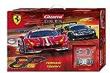 Carrera 1/32 Evolution Ferrari Trophy スロットカー & レースコースセット スロットカー2台入り