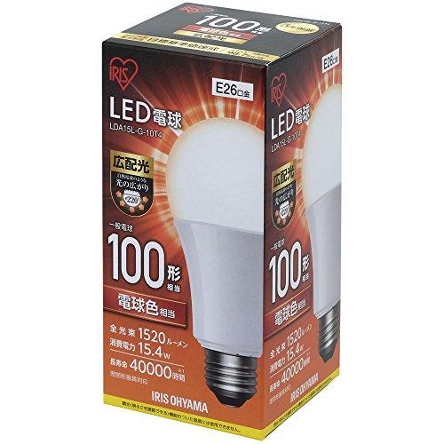 アイリスオーヤマ LED電球 E26 広配光タイプ 100W形相当 電球色相当 LDA15L-G-10T4