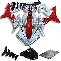 9FastMoto yamaha ヤマハ 2004 2005 2006 YZF-1000 R1 04 05 06 YZF 1000 R1 用フェアリング オートバイフェアリングキット ABS 射出成形セット スポーツバイク カウル パネル (レッド & ホワイト) Y0821