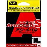 デュエル(DUEL) ARMORED S アジ・メバル 100m 0.2号 MP H4057-MP MP:ミルキーピンク 0.2号