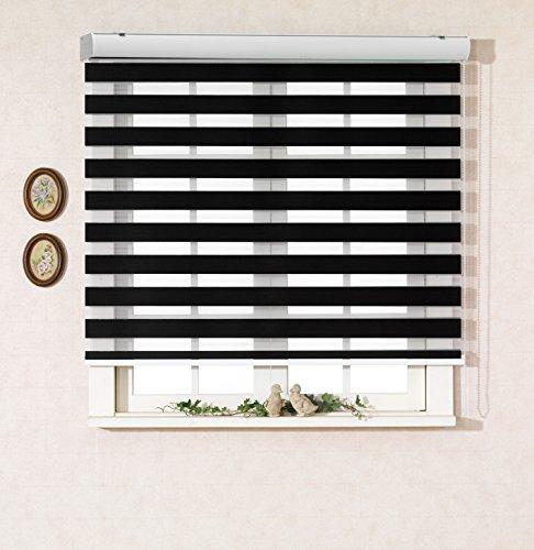 サイズ オーダーメイド , [Winsharp Basic , black , W 70 x H 150 (CM)] 調光ロールアップ スクリーン 窓 プリーツ ブラインド & カーテン 簾