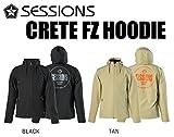 スノーボード ウエア 2016-2017 SESSIONS セッションズ CRETE FZ HOODIE パーカー 撥水 M,BLACK