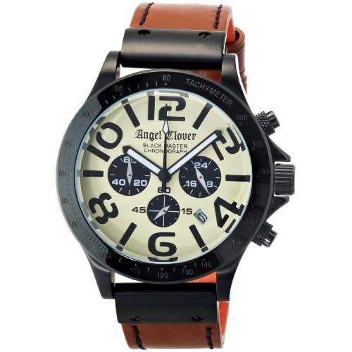[エンジェルクローバー]Angel Clover 腕時計 Black Master Military ベージュ文字盤 ステンレス(BKPVD)ケース クロノグラフ BM46BSB-LB メンズ