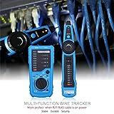 ELEGIANT マルチケーブルテスター ネットワークLanケーブルなど ケーブルテスター電話 ケーブルチェッカー FWT11 RJ45網追跡 電圧計測 抵抗測定 導通 断線 配線 青!