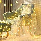 星ライト 点滅機能 イルミネーションライト ストリングライト 6m LED星数40個 電池式 生活防水 屋外対応 ledインテリア ワイヤーライト クリスマス パーティー 結婚式 誕生日 飾りライト スター型 (星)