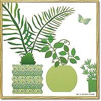 ユーパワー Modern Canvas モダン キャンバスアート グリーンポットコレクション(C) YP-03011-2 【人気 おすすめ 通販パーク】
