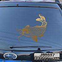 3s MOTORLINE Koi FishデカールステッカーJapan Japanese Jdm車ビニールPickサイズカラーDie Cut No bkgrd B 8'' (20.3cm) ブラック 20180410s26