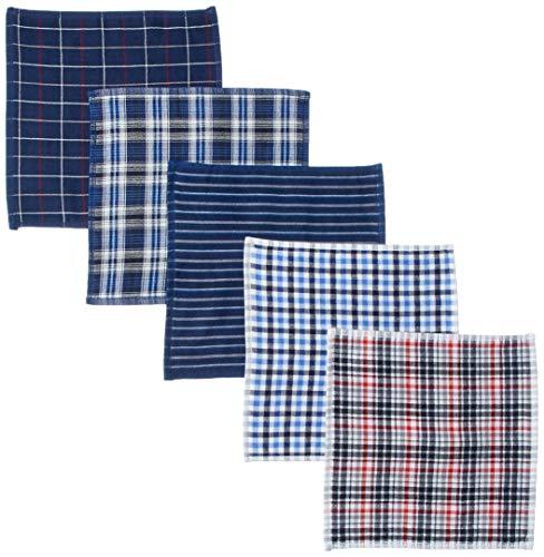 メンズ ウーノ ガーゼハンカチ タオル 5枚セット 25cm 綿100% gセット