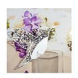 50個入り ワイン グラス カード 結婚式用 コップ ウェディングパーティー鳥パターン