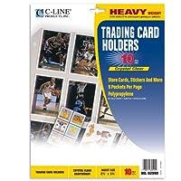 c-line Collector 's Edition Tradingカードホルダーページ、トップロード、11.25X 9インチ 10 Pages