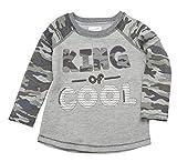 Mud Pie King of Cool ボーイズ 迷彩柄Tシャツ、グレー、LG (4T-5T 幼児)