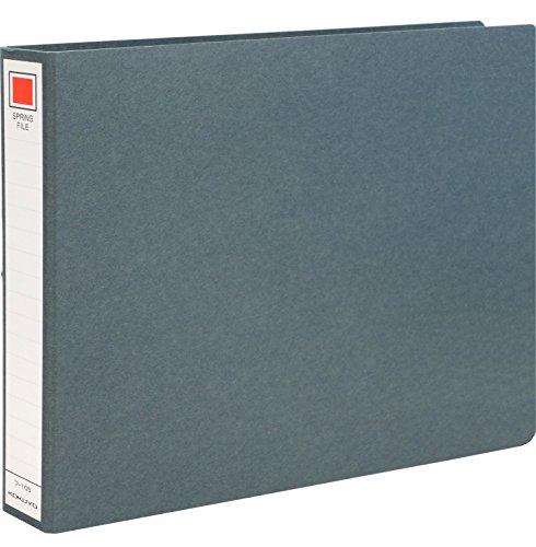 コクヨ ファイル スプリングファイル A4横 2穴 200枚収容 黒 フ-105Z