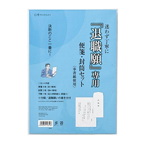 マルアイ 退職願 専用 便箋 封筒セット 10P タイ-1x10P