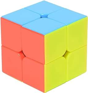 KINGDOM TOYS スピードキューブ 2×2 ノンステッカー 立体パズル 回転スムーズ 【並行輸入品】